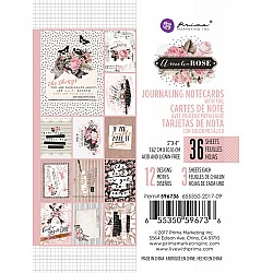 Prima - Amelia Rose Collection - 3 x 4 Journaling Cards with Foil Accents