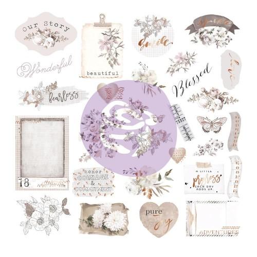 Prima Marketing Pretty Pale Cardstock/Acetate Ephemera 40/Pk