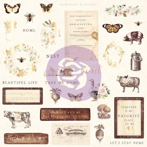 Prima Marketing Spring Farmhouse Cardstock Ephemera 33/Pkg