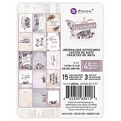 Prima - Lavender Collection - 3 x 4 Journaling Cards
