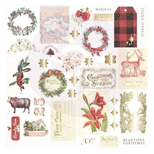 Prima Christmas In The Country Cardstock Ephemera 34/Pkg