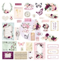 Prima Pretty Mosaic Cardstock Ephemera 38/Pkg