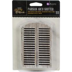 "Prima Marketing Memory Hardware Embellishments - Parisian Arch Shutters 3""X4.5"""