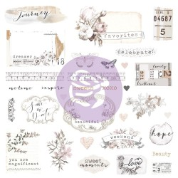 Prima Marketing Pretty Pale Cardstock Ephemera/Stickers 65/Pk