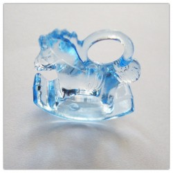 Rocking Horse Toy Plastic - Baby Blue