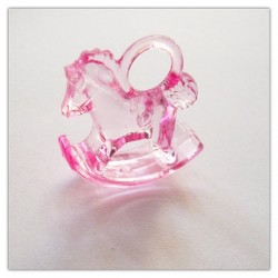 Rocking Horse Toy Plastic - Baby Pink