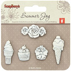 ScrapBerrys Summer Joy Polymer Shapes-Dessert
