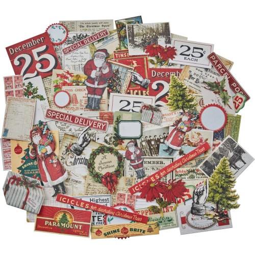 Tim Holtz Idealogy Ephemera Pack - Christmas Tiny Die cuts (86/pkg)