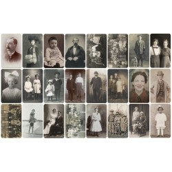 "Tim Holtz Idealogy Found Relatives Cards 24/Pkg - Everyday Photos 3""X5"""