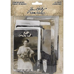 Tim Holtz Idealogy Found Relative Vintage Portraits 45/Pkg