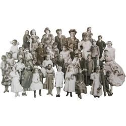 Tim Holtz Idealogy Baseboard Dolls 36/pkg