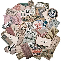 Tim Holtz Idealogy Ephemera Pack - Expedition (63/pkg)