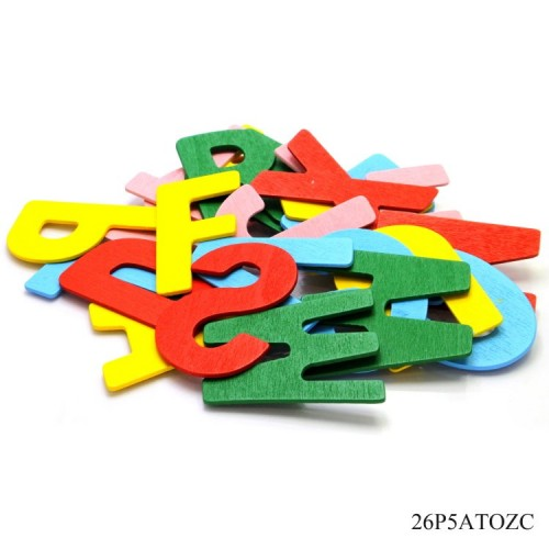 Colored Wooden Alphabets (A to Z)