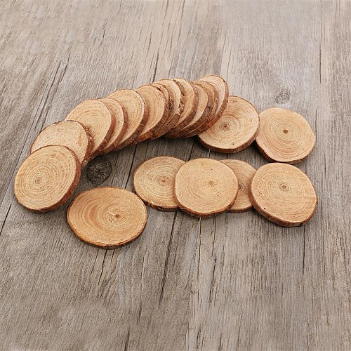Natural Wooden Slices (4.5 to 6 cm) - 5 pcs