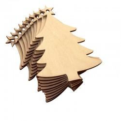 Christmas Tree Wooden cuts - 5 pcs