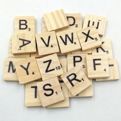 Wooden Alphabets Tiles - Capital Letters (50 pcs)