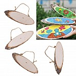 Natural Oval Wooden Slice with string (22 - 25 cm)