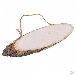 Natural Oval Wooden Slice with string (12 by 4 inch)