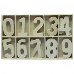Wooden Numbers (Large) 60PCWAZW