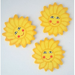 Wooden Die Cuts - Sunflowers (Pack of 5)