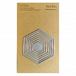 CrafTangles Steel Dies - Stitched Hexagons (Set of 5 dies)