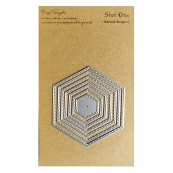 CrafTangles Steel Dies - Stitched Hexagons (Set of 7 dies)