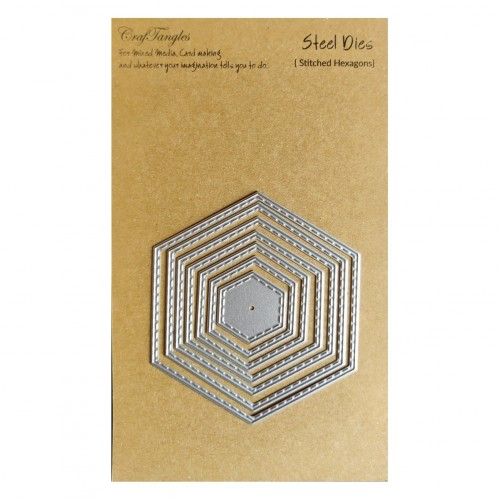 CrafTangles Steel Dies - Stitched Hexagons (Set of 7 dies)