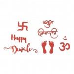 CrafTangles Steel Dies - Happy Diwali (Set of 7 dies)