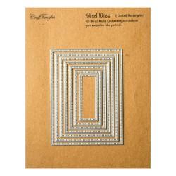 CrafTangles Steel Dies - Dotted Rectangles (Set of 7 dies)