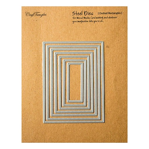 CrafTangles Steel Dies - Dotted Rectangles (Set of 7 dies)