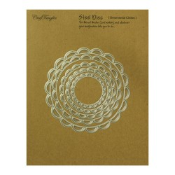 CrafTangles Steel Dies - Ornamental Circles (Set of 5 dies)