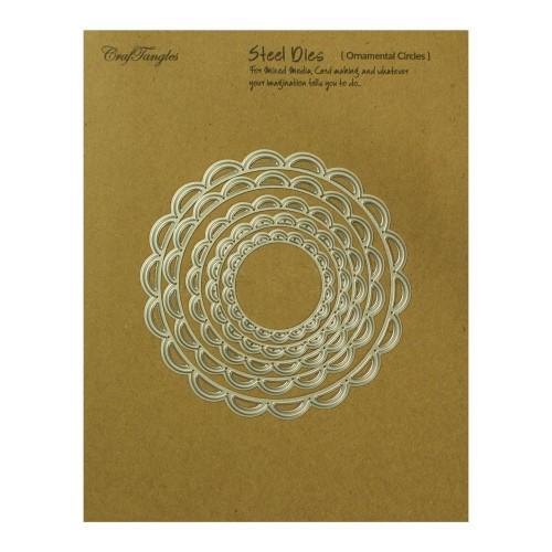 CrafTangles Steel Dies - Ornamental Circles (Set of 5 dies)