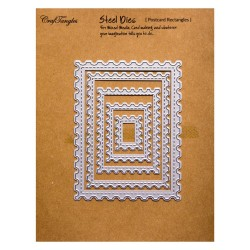 CrafTangles Steel Dies - Postcard Rectangles (Set of 5 dies)