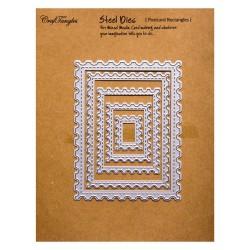 CrafTangles Steel Dies - Postcard Rectangles (Set of 5 dies)