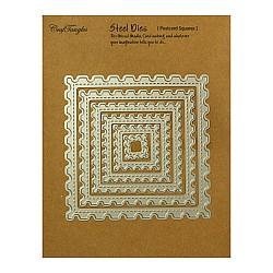 CrafTangles Steel Dies - Postcard Squares (Set of 6 dies)