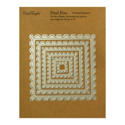 CrafTangles Steel Dies - Postcard Squares (Set of 6 dies)