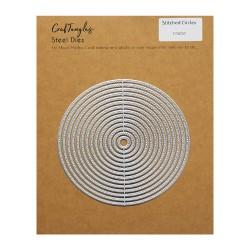 CrafTangles Steel Dies - Stitched Circles (Set of 14 dies)