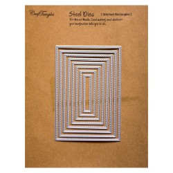 CrafTangles Steel Dies - Stitched Rectangles (Set of 8 dies)