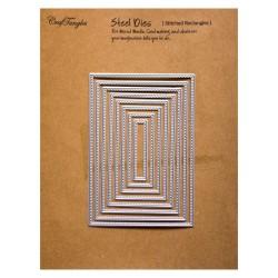 CrafTangles Steel Dies - Stitched Rectangles (Set of 8 dies)