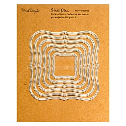 CrafTangles Steel Dies - Wavy Squares (Set of 6 dies)
