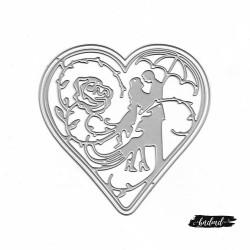 Steel Dies - Couple with Heart (Set of 2 dies)