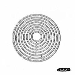 Steel Dies - Stitched Circles (Set of 8 dies)