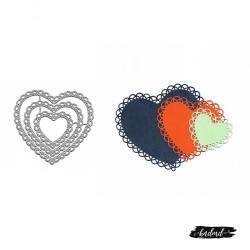 Steel Dies - Ornamental Hearts (Set of 3 dies)