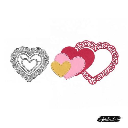 Steel Dies - Lace Heart (3 pcs)