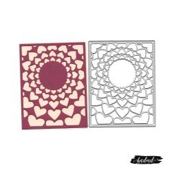 Steel Background Dies - Decorative Hearts (XY498)