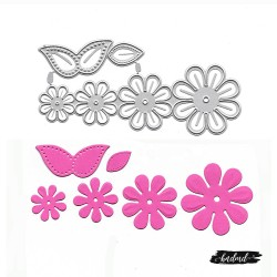 Steel Cutting Dies - Flower and Leaves (XY719)