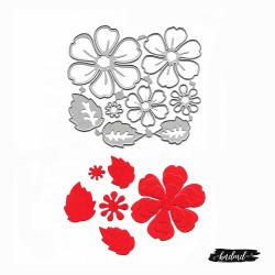 Steel Cutting Dies - Flower and Leaves (XY728)