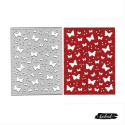 Steel Background Dies - Butterfly Grid