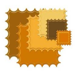 Spellbinder Large Inverted Scallop Square Die