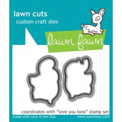 Lawn Cuts Custom Craft Die - Love you tons